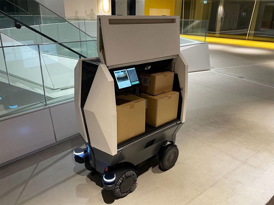 建物内での配送を想定した荷室スペースと荷積みUI
