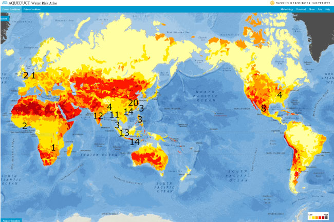 「Water Risk Atlas : World Resources Institute」