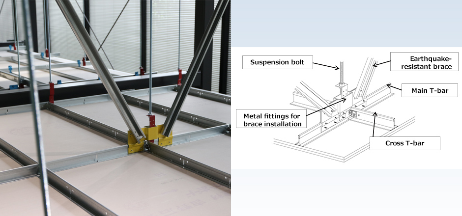 SD Clipless Ceiling System Reduces Damage from a Falling Ceiling