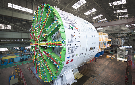 Japan's largest shield machine with an outer diameter of 16.1 meters