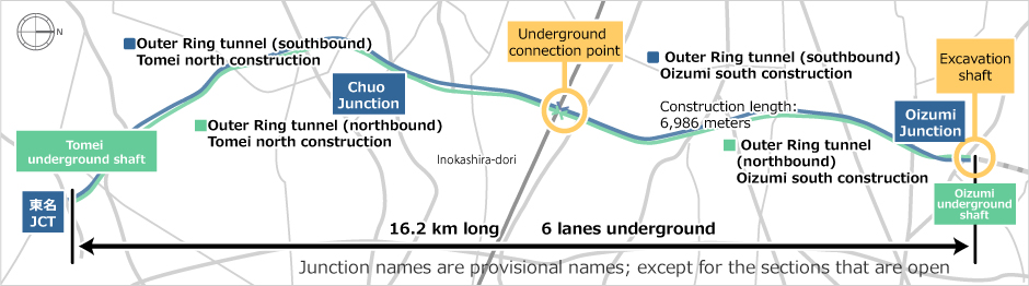 Source: Pamphlet on Construction of the Tokyo Outer Ring Road and Shield Tunnel Construction