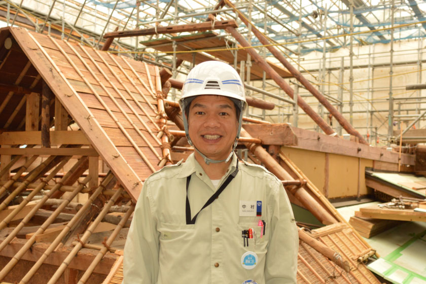 Kunimitsu Nakamura, Construction Manager, Temples Shrines Construction & Residential Division.