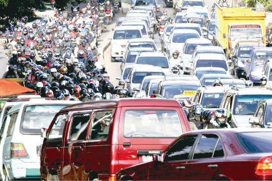 Jakarta, said to have the worst chronic traffic congestion in the world